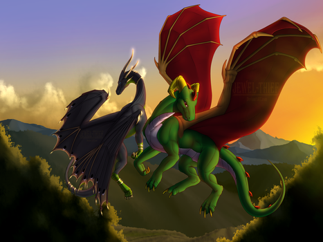 C - Dragon's Flight by Jewel-Thief