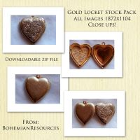 Heart Shaped Gold Locket by BohemianResources