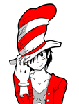 Cat\LUFFY in the hat by xSusumu