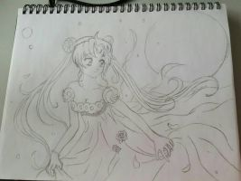 Sailor Moon Neo Queen Serenity Lineart by Delasera