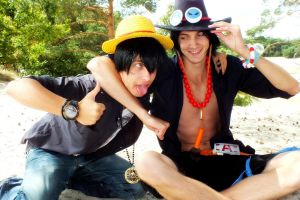 Luffy and Ace - Ace I need some air by Tha-Fire-Dude
