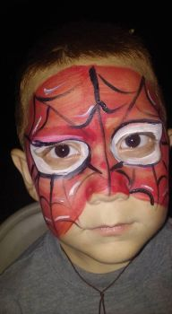 spiderman face paint by funfacesballoon