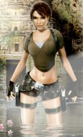 Lara Croft Close Up by walkingcity