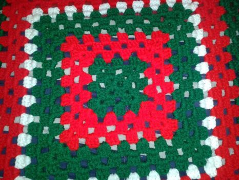 Look and Colours of Christmas Blanket by DWCreations2014