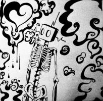 my very own robot skeleton by grungey