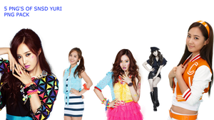 SNSD YURI PNG PACK by Acoojoy13