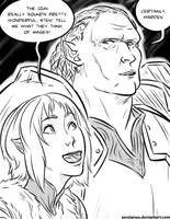 Sten and the Warden by zeratanus