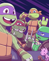 TMNT :: Say Cheese by stinawo