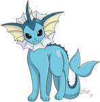 Vaporeon: Kanto Pokemon Collaboration by LeafFox