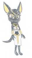 Anubelle the Jackal by KendraTheShinyEevee