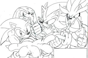 Sonic,knuckles,shadow,silver pl by trunks24