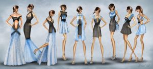 Fashion collection- old school project by BasakTinli