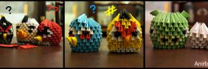 3D Origami: Angry Bird Family by sabrinayen
