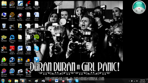 My Laptop Background #DuranLive by cosmicgallifrey