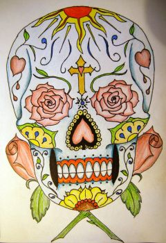 tattoo - sugar skull by JamesDManley
