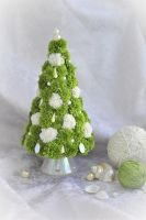 Pearl-green Pompon Christmas Tree by Alenkamouse