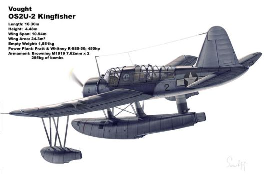 Vought OS2U Kingfisher by hylajaponica