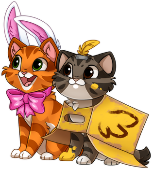 Castle Cats :: Bob and Curio by Kamirah