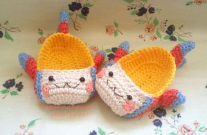 Slippers Crochet Fish kawaii by Nekomaru85