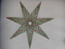 7-pointed star celtic knot by Trablete