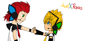 Axel and Roxas MAGNET by Im-not-short-grl