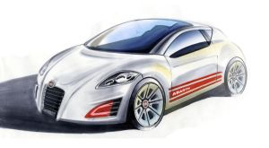 Fiat Abarth Render 1 by shakenUp
