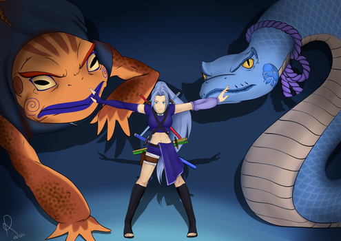 Summoning Kunoichi of The Mists by RenniksArts