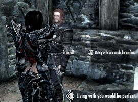 Living with Brynjolf would be perfect by Zero-G-Raven