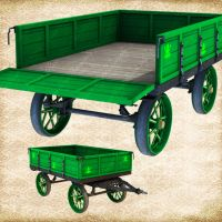 Shiny New Wagon -Green by Just-A-Little-Knotty