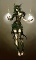 Character Design - Dryad by Zackichan