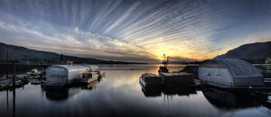 Sunset Over Murphy's Landing by Muskeg