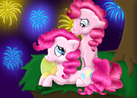 Bubble Berry and Pinkie Pie by kittykatkasha
