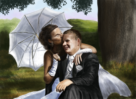 Wedding portrait by Mihin89