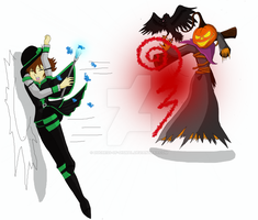 Destiny Deathbringer VS The Harvest Lord by Duchess-of-Dismal