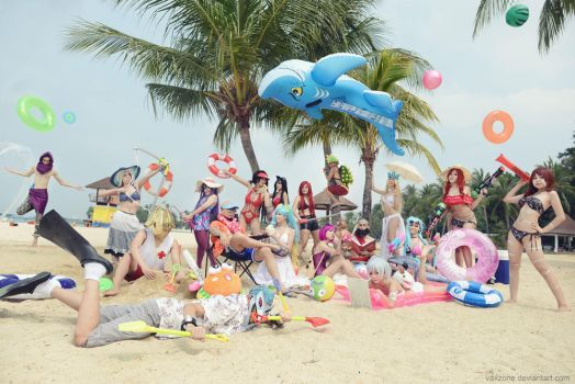 League of Legends - Beach Party by vaxzone