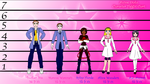 Anime Otaku Characters Height Chart by TorresAdlinCDL91