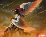 Gift for Storm337 -Facing the Frontlines (Feather) by BlueNeedle-Inu