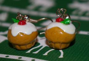 Christmas muffin earrings by Plastic-pearl