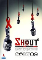 Shout poster design by sqak