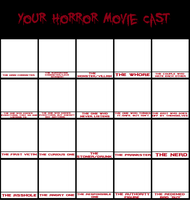 Your Horror Movie Cast meme by 300bulletproof