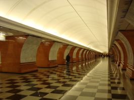 park pobedy metro station by philmanchu