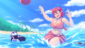 10-07-2016 - Carrie on the Beach by NightHead