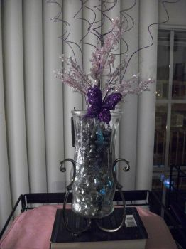 Katie's Purple Nightlight Vase (Front View) by JoManyNames