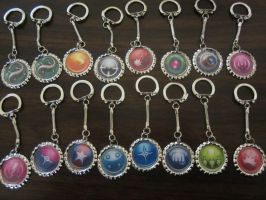 CoH keychains! by Rei2jewels