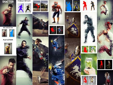 Shatter Photoshop Action by GraphicAssets