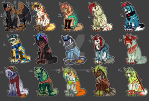 Giant adopt batch PAYPAL/POINTS by Marlonthegreenwolf