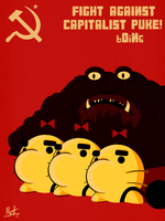FIGHT AGAINST A CAPITALIST PUKE by Marcotto