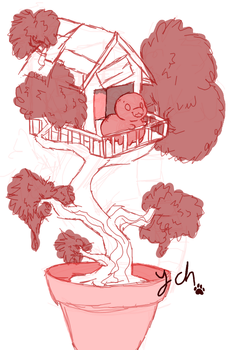 YCH-Smol Paca Treehouse (Open) by Candy-waterfalls