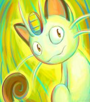Speedpaint- Meowth by pettyartist
