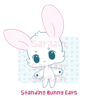 Standing Bunny Ears by Sarilain
